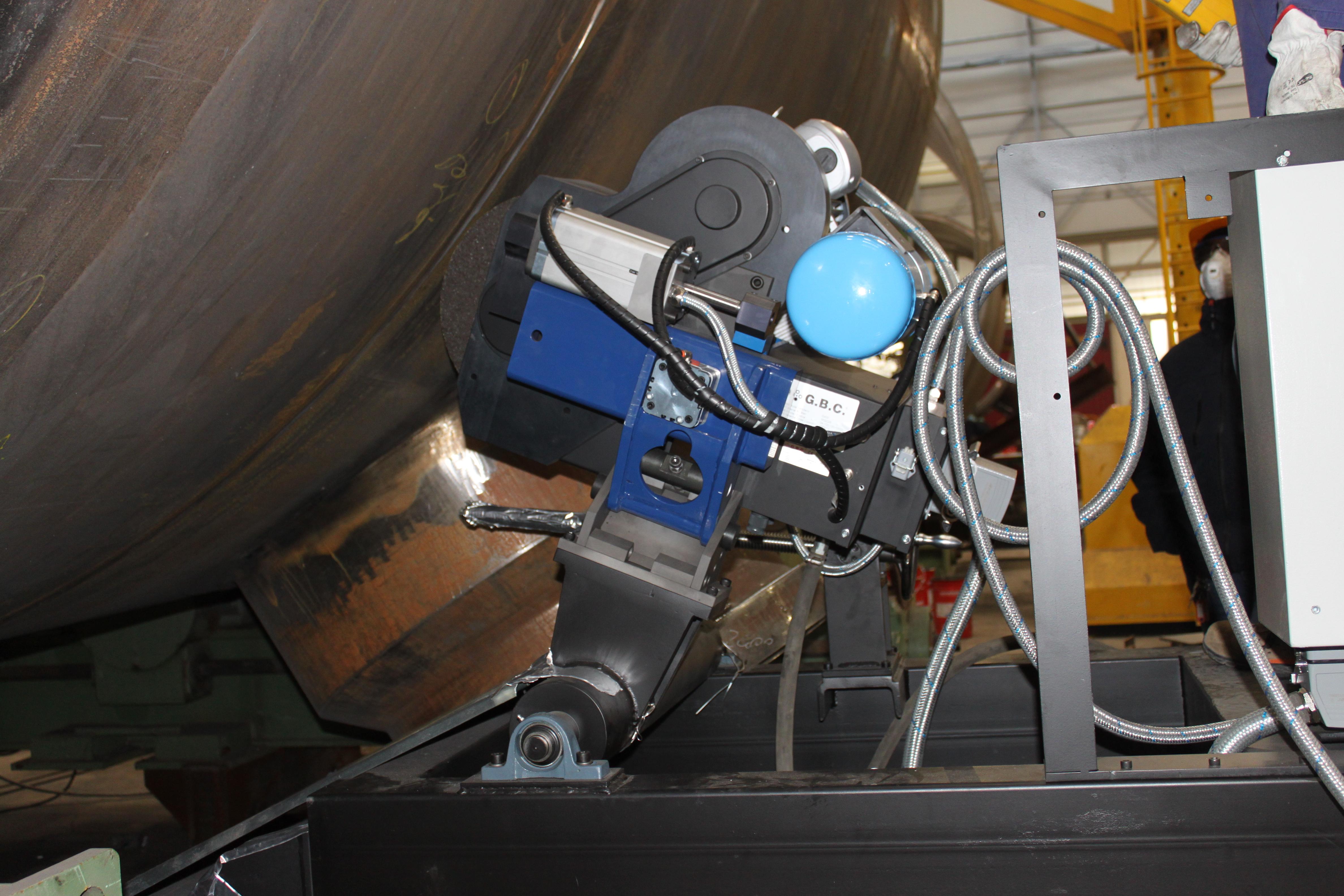 molatrice G400 per ripresa della saldatura